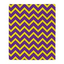 Purple and Gold Chevrons Throw Blanket