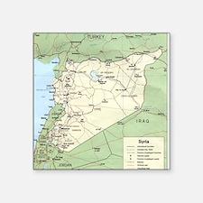 """Syria Iraq Turkey Jordan ma Square Sticker 3"""" x 3"""""""