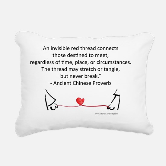 Red Thread Proverb Rectangular Canvas Pillow