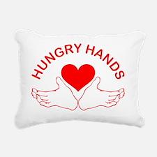 Hungry-Hands Rectangular Canvas Pillow