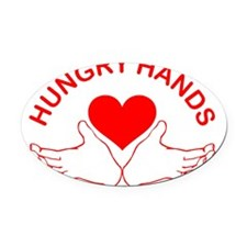 Hungry-Hands Oval Car Magnet