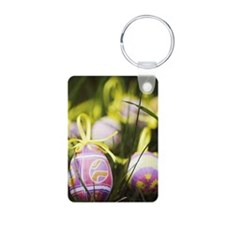 Happy Easter Aluminum Photo Keychain