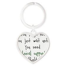 Tech Support Heart Keychain