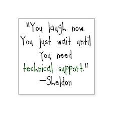 """Tech Support Square Sticker 3"""" x 3"""""""