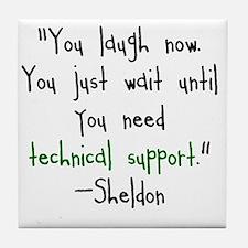 Tech Support Tile Coaster