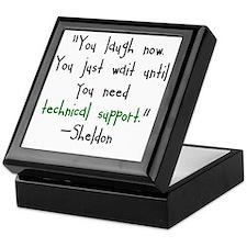 Tech Support Keepsake Box