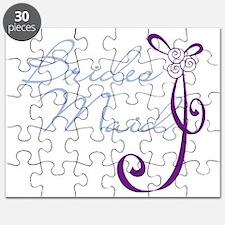 Purple Wedding Ribbon Bridesmaid Puzzle