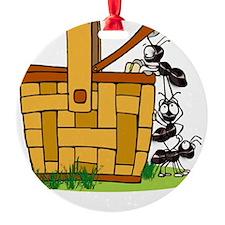 Ants Raiding a Picnic Basket Ornament