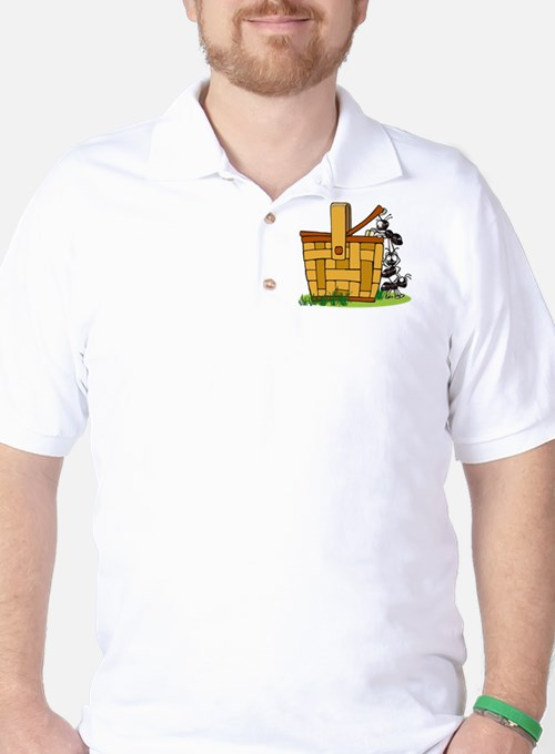Ants Raiding a Picnic Basket Golf Shirt