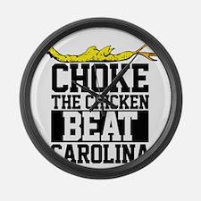 Choke The Chicken Beat South Caro Large Wall Clock