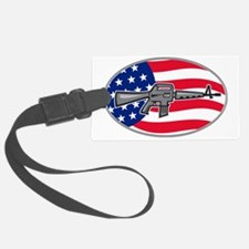 Armalite M-16 Colt AR-15 assault Luggage Tag