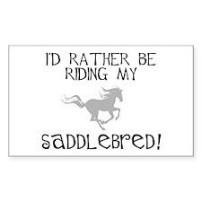 Rather-Saddlebred! Rectangle Bumper Stickers