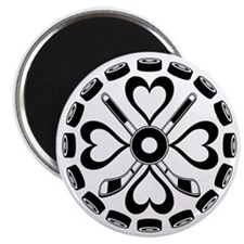 Black and White Hex Magnet