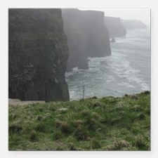 "Cliffs of Moher Square Car Magnet 3"" x 3"""