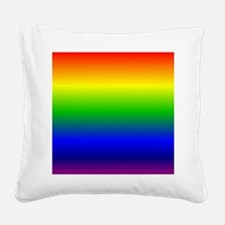 Rainbow Ombre Square Canvas Pillow