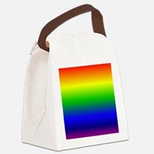 Rainbow Ombre Canvas Lunch Bag