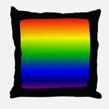 Rainbow Ombre Throw Pillow