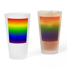 Rainbow Ombre Drinking Glass