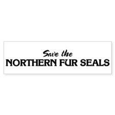Save the NORTHERN FUR SEALS Bumper Bumper Sticker