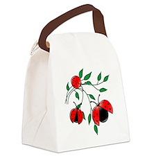 Delicate Ladybugs on Graceful Lea Canvas Lunch Bag