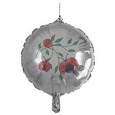 Delicate Ladybugs on Graceful Leaves Balloon