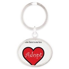 One less orphan Oval Keychain