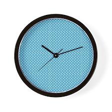Tiny Blue Dot Wall Clock
