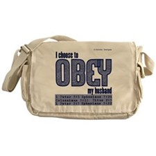 Choose to Obey BLUE Messenger Bag