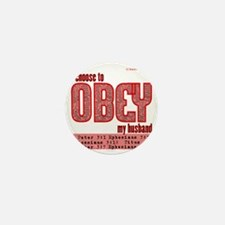 Choose to Obey RED Mini Button