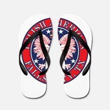 Falls City Texas Polish Flip Flops