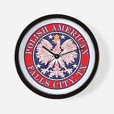 Falls City Texas Polish Wall Clock