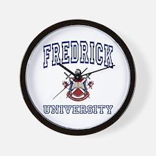 FREDRICK University Wall Clock