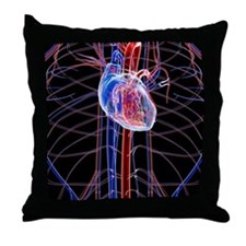 Human heart, artwork Throw Pillow