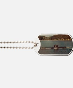 uss trigger rectangle magnet Dog Tags