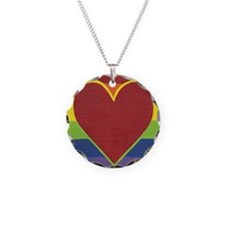 Rainbow Love by Kristi L Ran Necklace