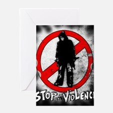 STOP THE VIOLENCE--- Graphitti Greeting Card