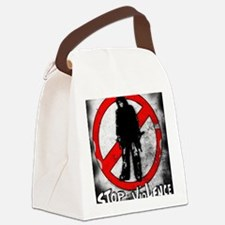 STOP THE VIOLENCE--- Graphitti Canvas Lunch Bag