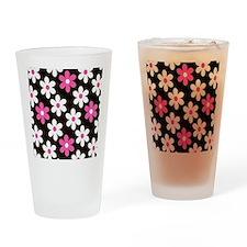 Daisy Fuchsia Drinking Glass