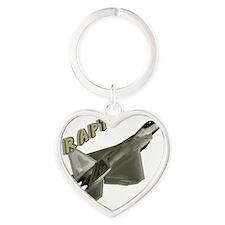 Air Force F22 Raptor Heart Keychain