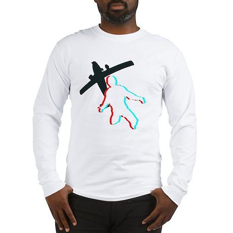 3D Freefall 1 (Dark) Long Sleeve T-Shirt