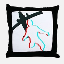 3D Freefall 1 (Dark) Throw Pillow
