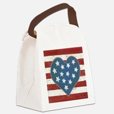 American Love Canvas Lunch Bag