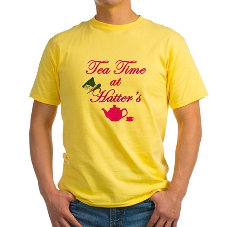 Tea Time at Hatters Yellow T-Shirt