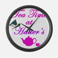 Tea Time at Hatters Large Wall Clock