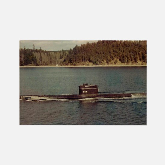 uss trigger large framed print Rectangle Magnet