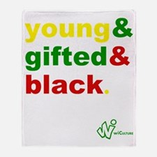 Young, Gifted and Black Throw Blanket