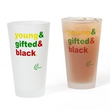 Young, Gifted and Black Drinking Glass