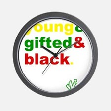 Young, Gifted and Black Wall Clock