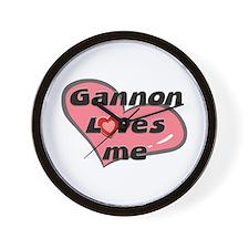 gannon loves me  Wall Clock