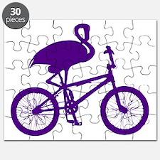 Purple Flamingo on Bicycle Puzzle